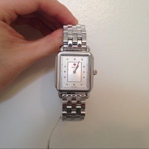 Authentic MICHELE Deco ll silver watch